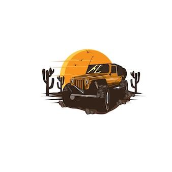 Fora da estrada no deserto