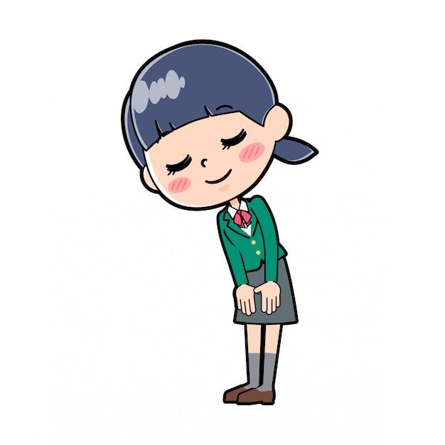 Fora da linha escola menina green_ojigi