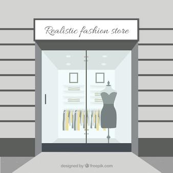 Fora de uma loja de roupas
