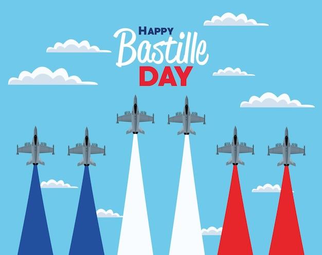 Força aérea do dia da bastilha