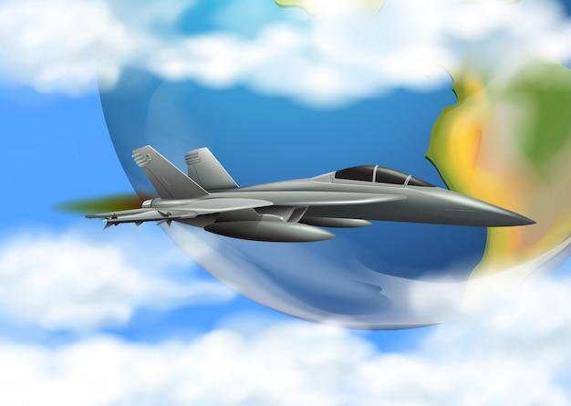 Força aérea do exército no céu