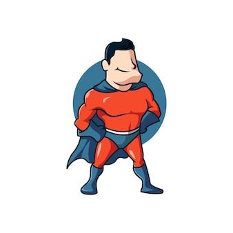 Força da fantasia de super-herói em quadrinhos