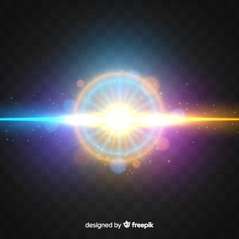 Forças de luz efetuam estilo realista