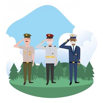 Forças do exército homens