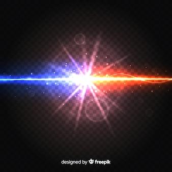Forças realistas causam um efeito de luz