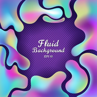 Forma 3d colorida gradiente fluido abstrata