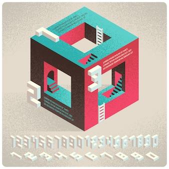 Forma abstrata geométrica 3d