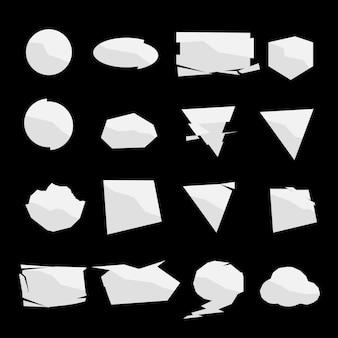 Forma conjunto de cores branco