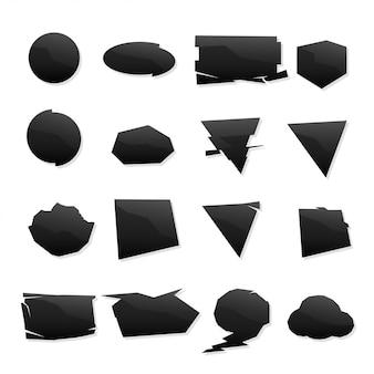 Forma conjunto de ícones pretos