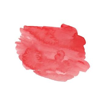 Forma de aquarela vermelha brilhante