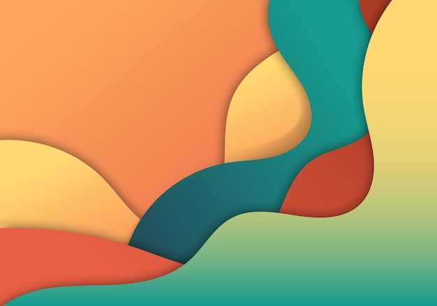 Forma de camada dinâmica fluida de gradiente colorido moderno do fundo abstrato. ilustração vetorial