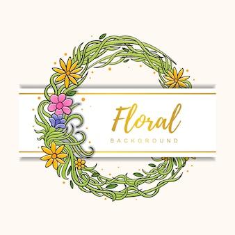 Forma de círculo de flor fundo