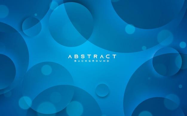 Forma de círculo elegante de fundo abstrato azul