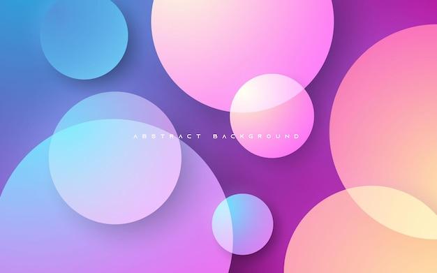 Forma de círculo elegante de fundo abstrato gradiente colorido