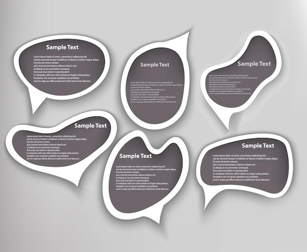 Forma de conjunto de bolhas de discurso