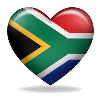 Forma de coração das insígnias da áfrica do sul