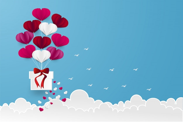 Forma de coração de balão