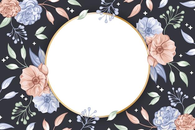 Forma de crachá de círculo para o conceito de papel de parede