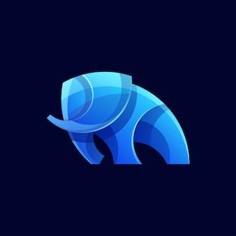 Forma de elefante moderno