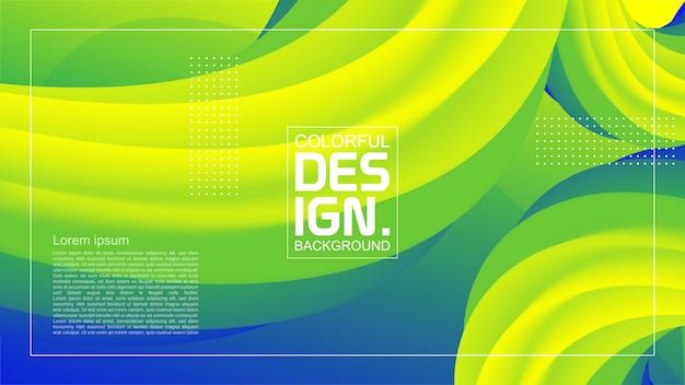 Forma de fluxo abstrato design moderno 3d