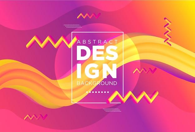 Forma de fluxo criativo design moderno 3d. origens de onda líquida