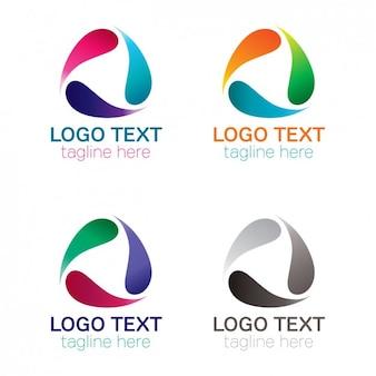 Forma de gotículas logotipo arredondado