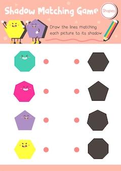 Forma de jogo de correspondência de sombra