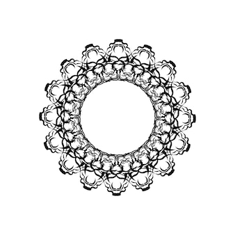 Forma de mandala simples para colorir. mandala de vetor.