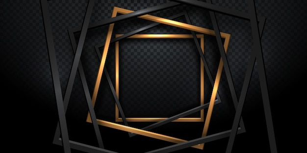 Forma de moldura dourada