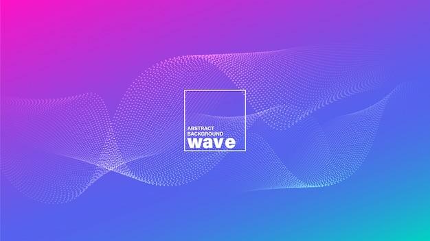 Forma de onda abstrata no fundo azul magenta brilhante vívido do inclinação.