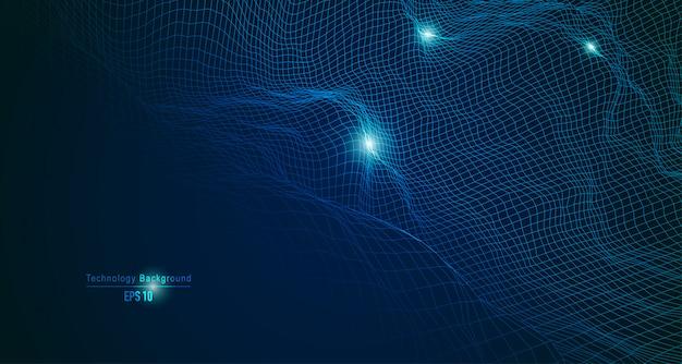 Forma de onda futurista para decoração tecnológica