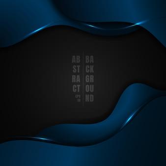 Forma de onda metálica azul abstrata
