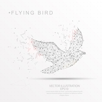 Forma de pássaro digitalmente desenhada baixa armação de arame poli