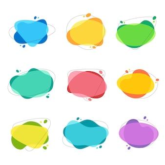 Forma de preço para texto em design moderno banner para venda bolha de discurso de cor para promoção
