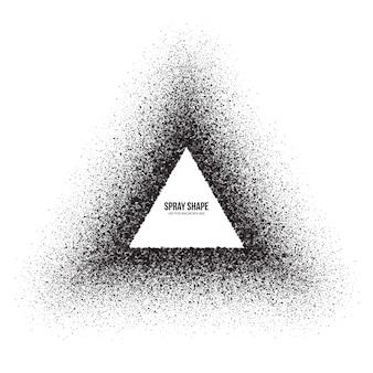 Forma de triângulo abstrato de efeito de pulverizador de vetor