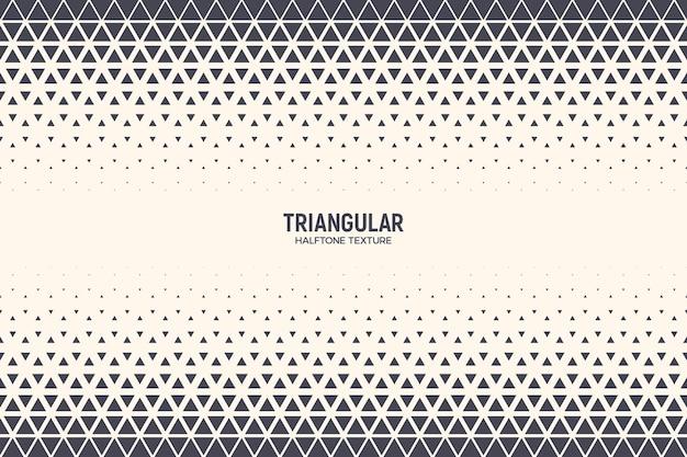Forma de triângulo textura de meio-tom fundo geométrico abstrato
