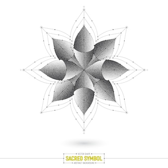 Forma de vetor de símbolo sagrado esotérico de mandala