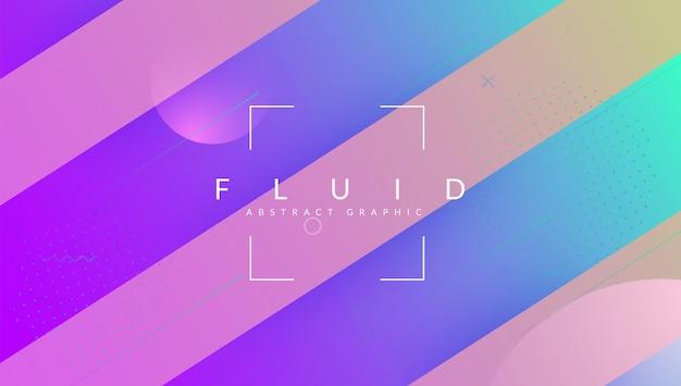 Forma dinâmica. página de destino da tecnologia. cobertura de gradiente 3d. fluid conce