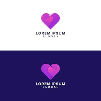 Forma do logotipo de coração