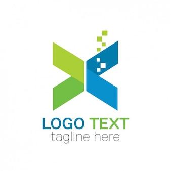 Forma dobrada logotipo abstrato