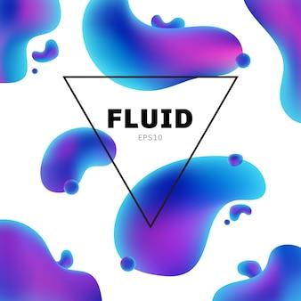 Forma fluida holográfica abstrata