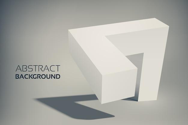 Forma geométrica 3d abstrata