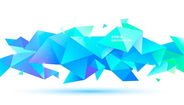Forma geométrica abstrata da faceta 3d.