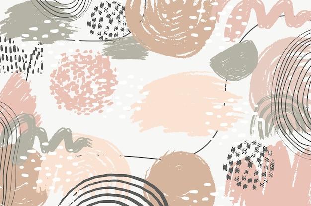 Forma geométrica abstrata de fundo pintado com design pastel