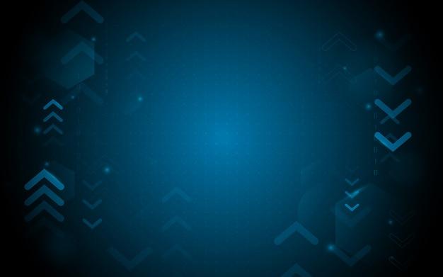 Forma geométrica azul abstrata com tecnologia digital hi fundo futurista