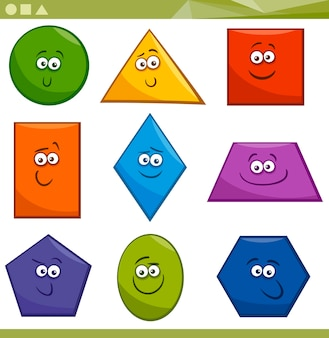 Forma geométrica básica dos desenhos animados