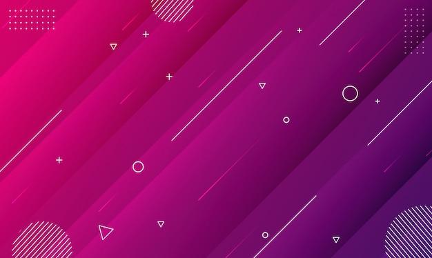 Forma geométrica gradiente abstrata de cores modernas