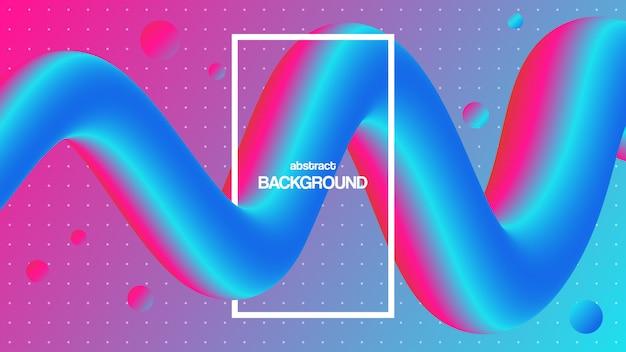 Forma líquida 3d colorida. fundo abstrato com gradiente vibrante. design futurista