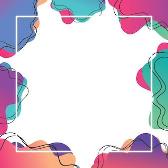 Forma líquida abstrata design fluido conjunto gráfico moderno abstrato de formas gradientes líquidas