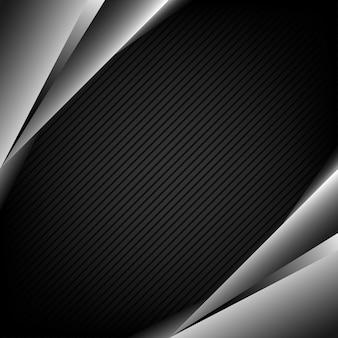 Forma metálica de fundo abstrato